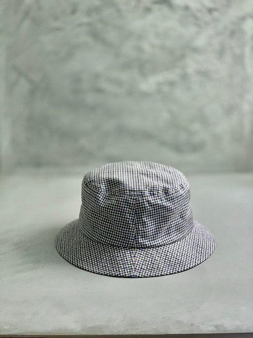 Morno European Fabric Gingham Check Bucket Hat