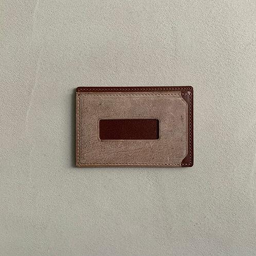 Anchor Bridge Kudu Leather New Card Case - Choco