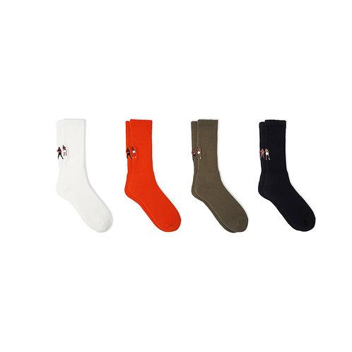 BRU NA BOINNE × decka quality socks Embroidery Pile Socks / MM