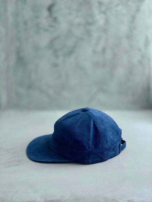 Morno Punching Suede Baseball Cap - Blue
