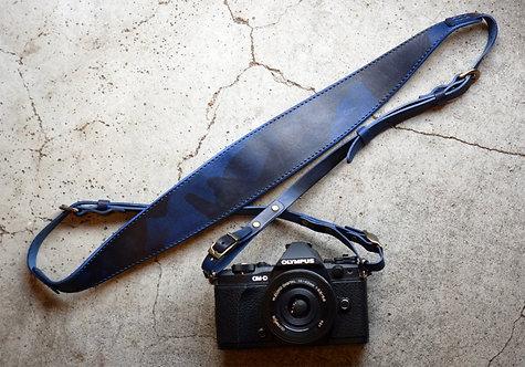 Roberu Italy Navy Camo Leather Camera Strap