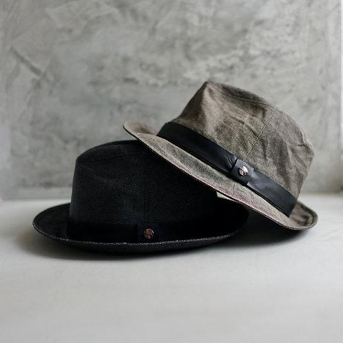 Morno Paper Cloth Leather Ribbon Hat