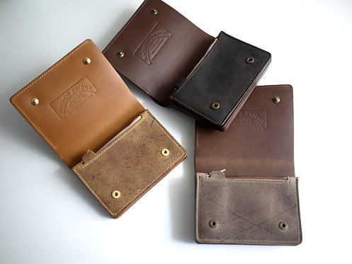 Anchor Bridge Kudu Leather Half Wallet
