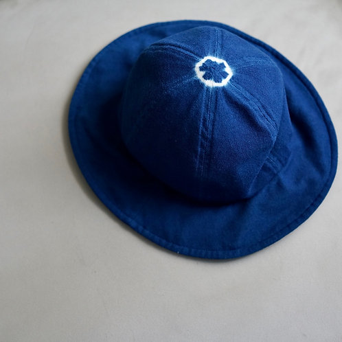 Morno Wool Natural Dyed Metro Hat - Navy