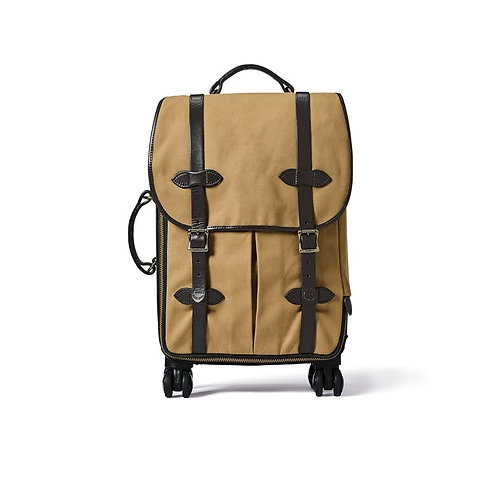 Filson Rugged Twill Rolling 4-Wheel Carry-On Bag - Tan