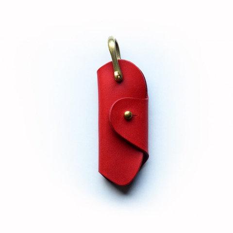 Roberu Italy Vachetta Leather Key Holder - Red