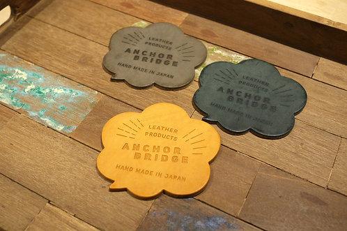 Anchor Bridge Waxed Leather Coaster Set