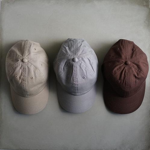 Twill Baseball Cap - Brown / Beige / Gray
