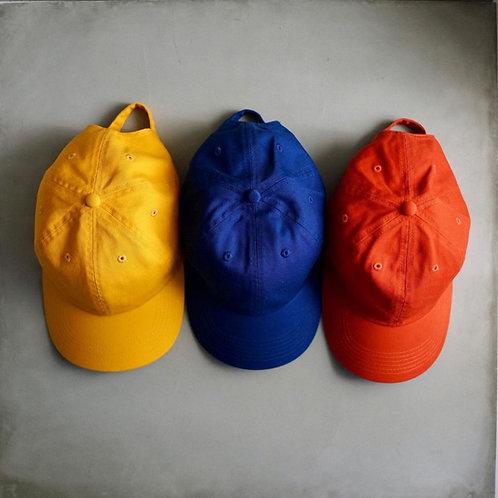 Twill Baseball Cap - Yellow / Orange / Royal Blue