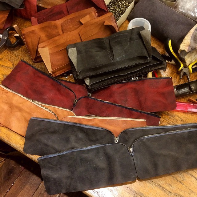 Washed Leather Long Wallet Making Of