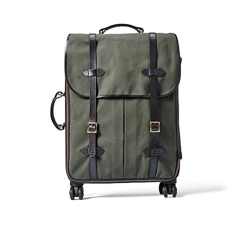 Filson Rugged Twill Rolling 4-Wheel Check-In Bag - Otter Green
