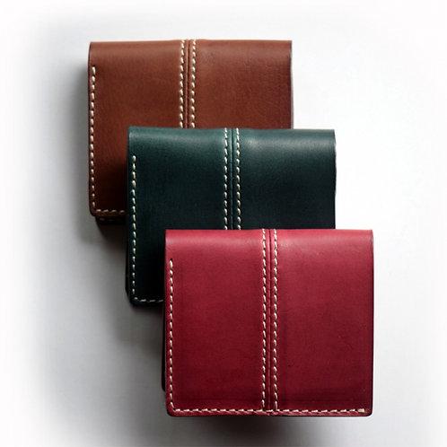 Roberu Italy Vachetta Leather Compact Wallet