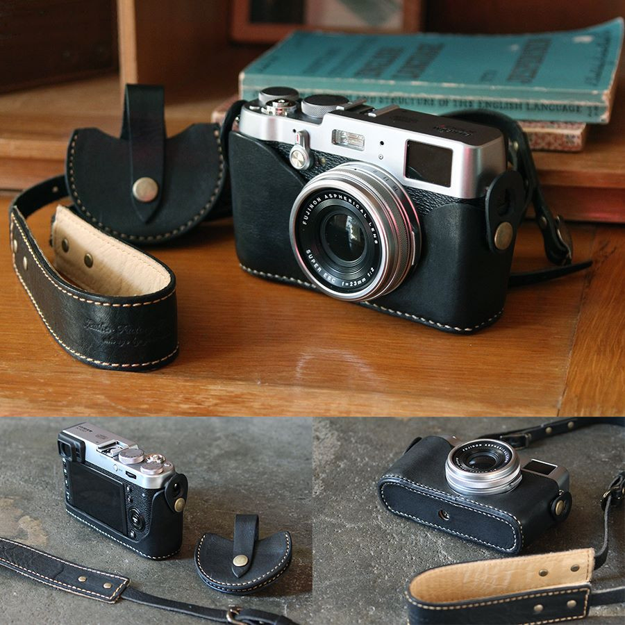 Leather Factory Roberu Fujifilm X100T / X100S / X100 Leather Holder and Strap