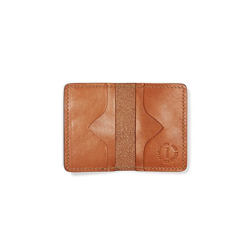 Filson Bridle Leather Card Case - Tan