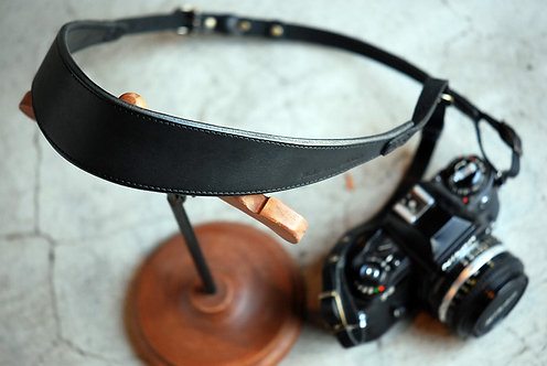 Roberu Natural Tanned Leather Camera Strap - Black