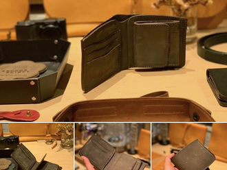 【HANDMADE IN JAPAN・ROBERU SHADING LEATHER SHORT WALLET】