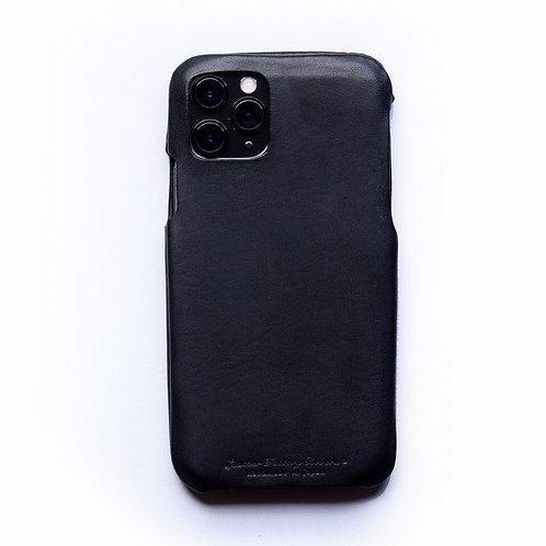 Roberu Italy Leather iPhone Case - Black