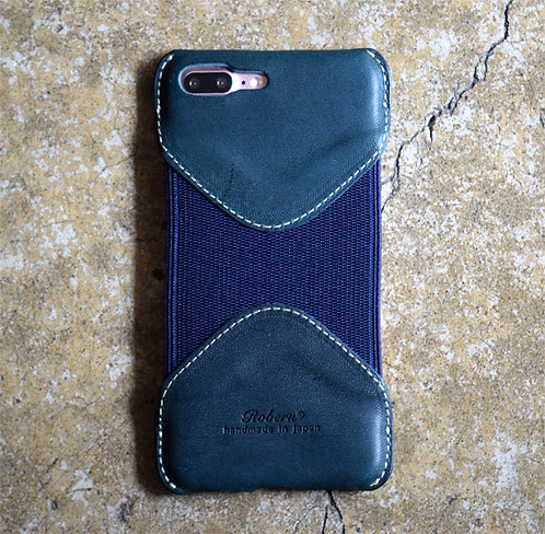 Roberu Leather iPhone 7P / 8P Case - Deep Green