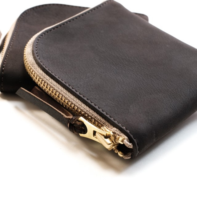 Anchor Bridge​ Zip Wallet Dark Brown