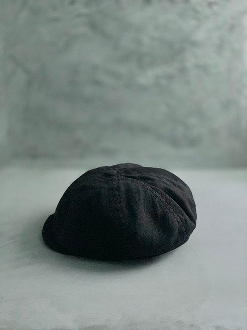 Morno Garment Dyed Casquette - Black