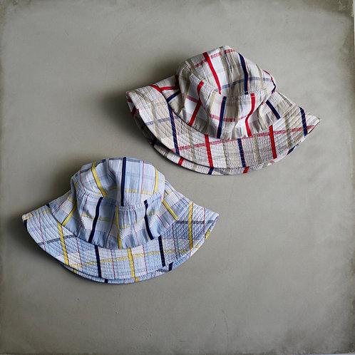 Morno European Fabric Madras Check Hat