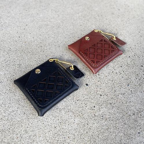 Armadillo Leather Coin Case