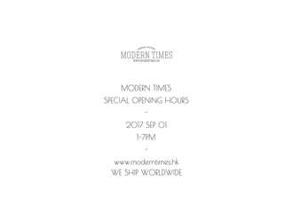 【SPECIAL OPENING HOUR 2017-09-01】