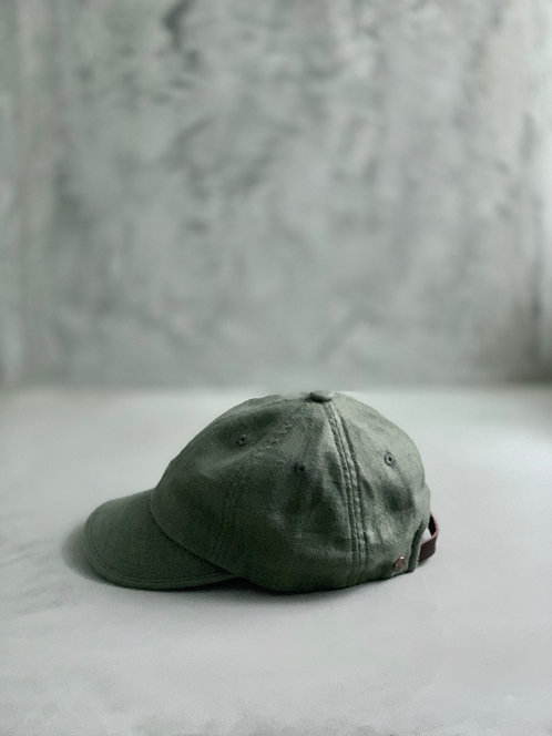 Morno Linen Wash Cap - Khaki