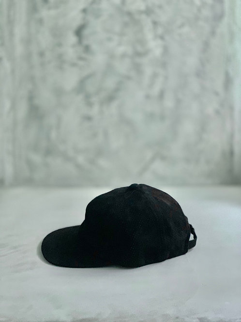 Morno Punching Suede Baseball Cap - Black