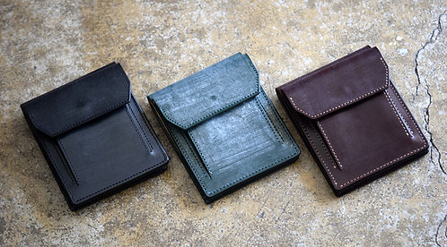 Anchor Bridge Bridle Leather Bill and Coin Wallet