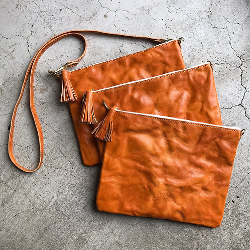 Roberu Italy Wash Leather 3 Way Pouch