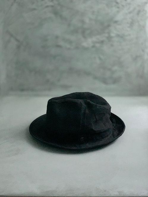 Morno Linen Wash Soft Hat - Black