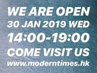 【WE ARE OPEN · 30 JAN 2019 WED】