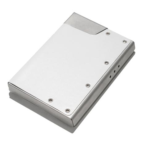 Claustrum CC Biz Card Case - Leather White