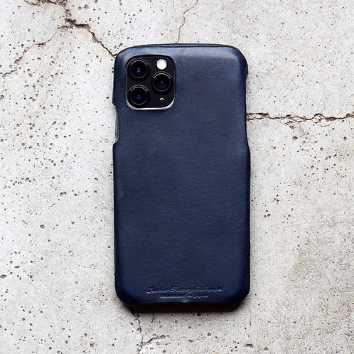 Roberu Italy Leather iPhone Case - Navy