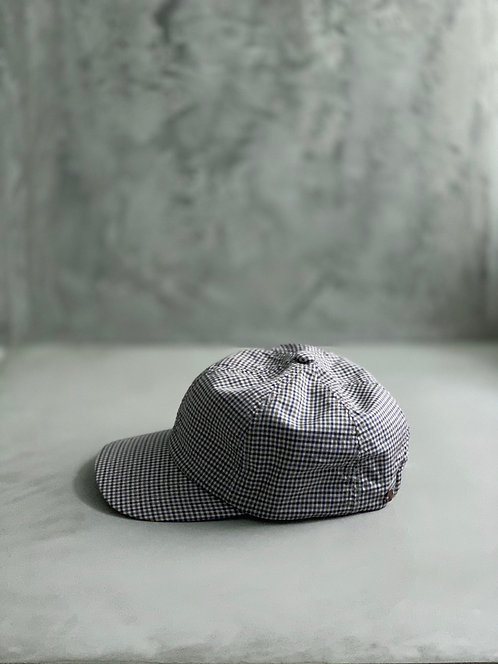 Morno European Fabric Gingham Check Cap