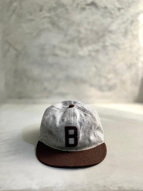 Ebbets Field Baseball Cap - Gray Made in USA