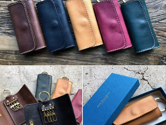 【ROBERU ITALY LEATHER COMPACT KEY CASE・HANDMADE IN JAPAN】