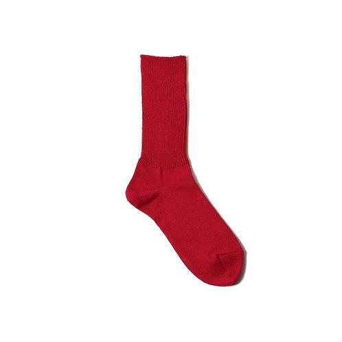 Decka Standard Rib Sock - Red
