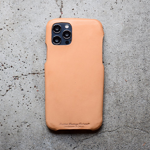 Roberu Italy Leather iPhone 12 / 12 Pro Case - Natural Tan