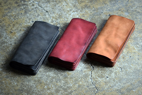 Roberu Shading Leather Long Wallet