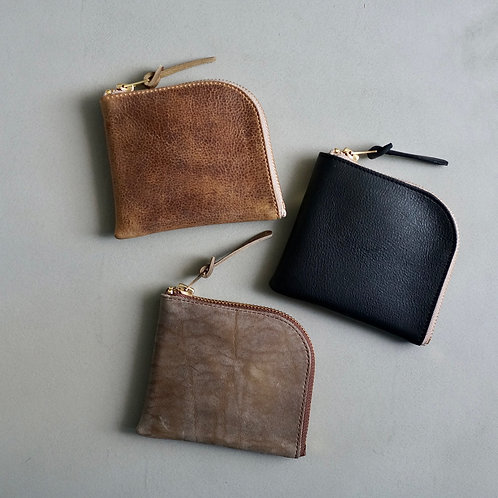 Anchor Bridge Kudu Leather Zip wallet