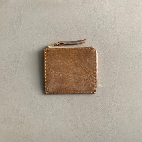 Anchor Bridge Kudu Leather New Zip Wallet - Camel