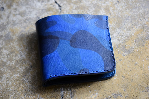 Roberu New Short Wallet Navy Camouflage
