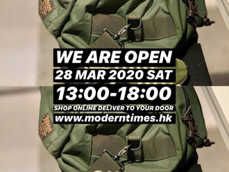 【WE ARE OPEN・28 MAR 2020】