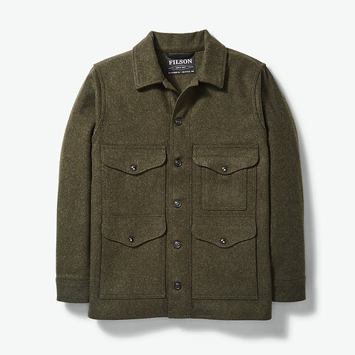 Filson Mackinaw Wool Cruiser Jacket - Forest Green