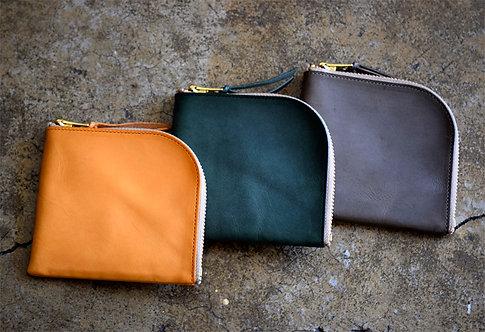 Anchor Bridge Waxed Leather Zip wallet
