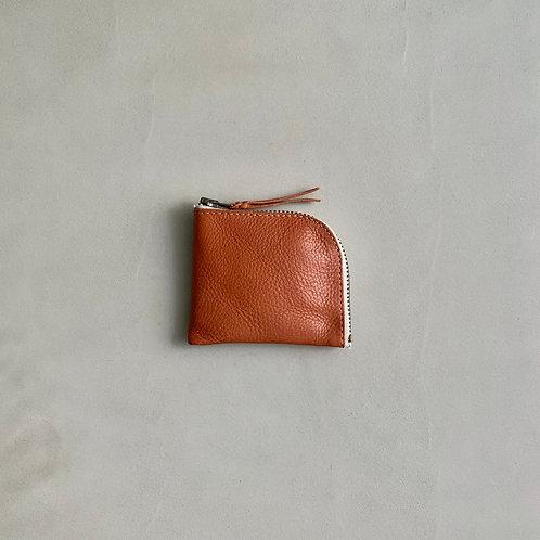 Roberu Italy Vachetta Leather New Short Zip Wallet - Camel