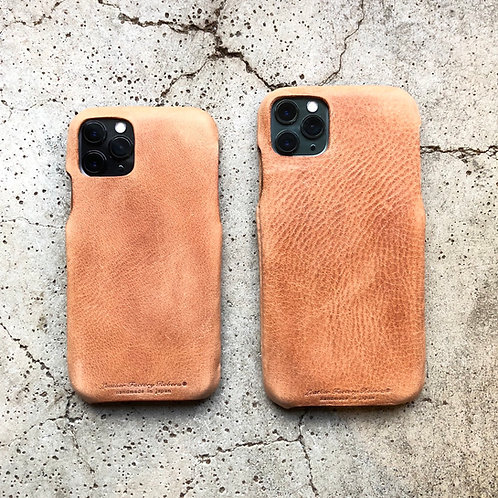 Roberu Italy Leather iPhone Case - Camel