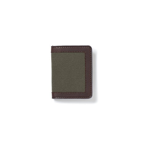 Filson Rugged Twill Outfitter Card Case - Otter Green